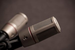 A closeup of a microphone